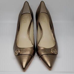 Coach Shoes - Bronze Coach pumps